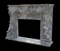 Fireplace column fountain marble stone sculpture carved