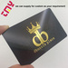 Custom PVC Card, VIP Membership Card, Business Card, Black Metal Card