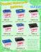 Motorcycle battery series