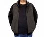 Big-Tall Men s Hooded Jacket Raglan Sleeve Zip-Down 18512