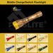 LED Middle Charging Flashlight/Middle Switch Flashlight -Flaslite