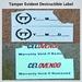 Tamper proof void sticker; destructible vinyl
