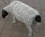 Beaded Sheep Sculpture