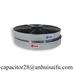 Metallized plastic film for capacitors