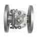 2pc stainless steel flange ball valve with top plate