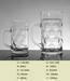 Glass beer mug, beer stein