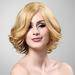 2012 best seller 100% Brazilian Human Hair Short Curly Blonde full lac