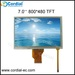 7.0 inch 800x480 TFT LCD MODULE with resistive touchscreen CT070BPL17