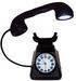 Classic telephone design LED desk lamp with alarm clock