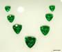 Diamonds, green garnet, tanzanite