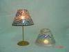 Stained glass, candle, glass lamp shade, glass ball
