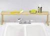 Wooden Upright Paper Towel Holder/Napkin Holder W/Sp /Over Sink Shelf
