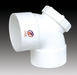 White UPVC ELBOW 90 DEGREE WIHT DOOR