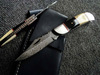 Damascus handmade folding knife