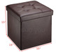 Europe Popular Home Collapsible Faux Leather Storage Ottoman 12.2''*12