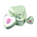 China supplier heart shape gift packaging tin box