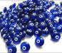 Wholesale evil eye dark blue glass beads handmade good luck charms
