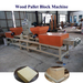 Four Head Wood Sawdust Pallet Block Making Machine