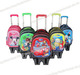 3/6 wheels climbing stair 3D cover kids/Children trolley school bag