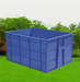 Plastic transport pallet and container
