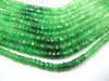 7 Inches - AAA - Super Finest Columbia emerald Green tsavorite shaded