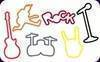 Silly bands Rock shaped silicone rubber bands