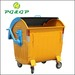 1100L Dome Lid Hot Dip Galvanized Metal Wheelie Waste Container Urban