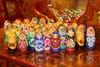 Mix of Voznesensk Matryoshka and accessories of wood