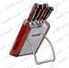 6 PCS kitchen knife set with wooden stand