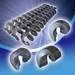 Elevator bucket screw flights impact bar engineering plastics conveyor