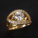 Sterling Golden Rings