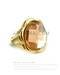 High quality 14k gold plated with orange crystal glass fashion ring