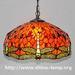Tiffany dragonfly pattern chandelier classic European pastoral Art den