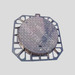 C 250 galvanized steel cast iron round manhole covers