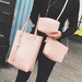 3pcs Simple Fashion  Leather Purse Clutch Single Shoulder Handbags Set