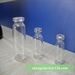 Pharmaceutical glass vial with flip off seals