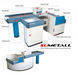 Checkout counter and cashier desk with conveyor belt