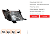 Auto head/tail lamps, grilles and bumpers for Toyota COROLLA & CAMRY