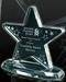 Engraved crystal business trophy