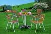 Outdoor furniture, aluminum chairs, tables