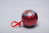 Custom design printed Spherical style metal tin cans with string