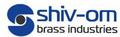 Shiv Om Brass Industries: Seller of: brass terminal bars, brass spacers, barss inserts, special kind of brass turned parts, sheet metal parts of brass ms pb ss, brass plug pins, brass rivet, brass gases fluid pipe fittings, brass cable glands.