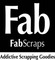 FABSCRAPS: Seller of: scrapbook paper, metal charms and embellishments, journal books, slogans sheets, paper pads, flowers, die-cuts paper, die-cuts chipboard, albums.