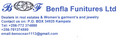 Benfla funitures limited: Seller of: real estate services, sell appartments, land in prime areas for development, rental services. Buyer of: pearls, stainless steel, stones, jeans, jewelry, jackets, ladies clothes.