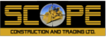 Scope Construction and Trading, Ltd.: Seller of: caterpillar, cat, komatsu, spare parts, graders, dozers, excavators, atlas copco, cranes.