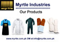 Myrtle Industries: Seller of: work wear, protective gloves, aprons, chef wear, hospital wear, towels, cotton mittens, leather mittens, martial arts. Buyer of: chef wear, aprons, cotton mittens, leather mittens, hospital wear, work wear, chef wears, work wears, tea towels.