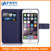 Lichee Pattern Side Flip Wallet PU Leather Case Cover for IPhone 6 Plu
