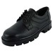 Chamois men black laces safety shoes (42640 black)