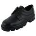 Chamois men black laces safety shoes (42640 black)