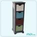 Handmade Tall Antique Wood/Metal Cabinet, Wood Craft